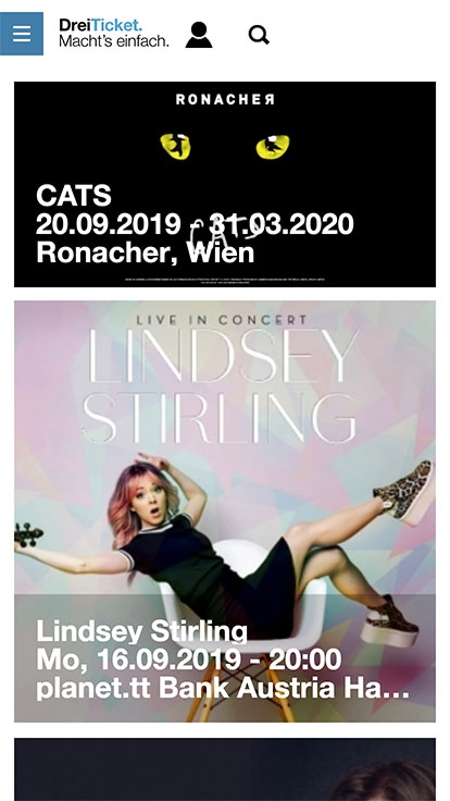 Hutchison 3 Ticketing | drei-ticket.at | 2018 (Phone Only 06) © echonet communication
